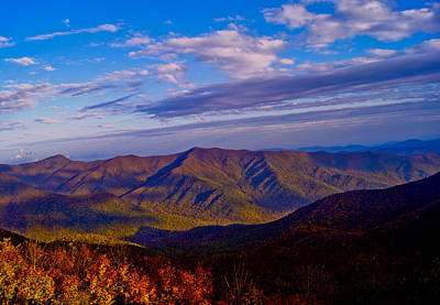 Mountain Photograph - Fall Shadows by Debra Crank