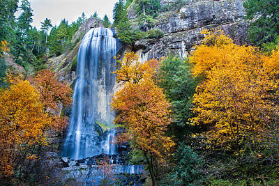 Fall Silver Falls Print by Robert Bynum