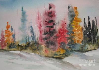 Fall Snow Print by Mohamed Hirji