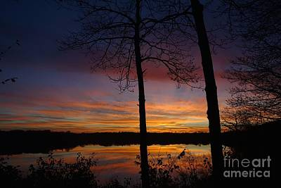 Fall Sunset Print by Jacqueline Athmann