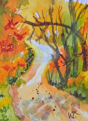 Fall Trail Print by Warren Thompson