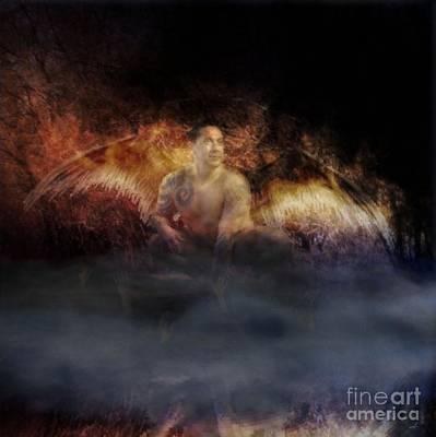 Angel Digital Art - Fallen by KJ Bruce - Infinity Fusion Art