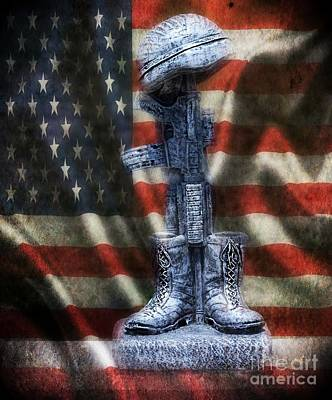 Fallen Soldiers Memorial Print by Peggy  Franz