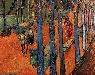Vangogh Painting - Falling Autumn Leaves by Vincent van Gogh
