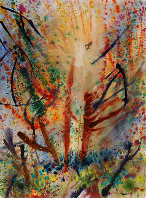 Wet Into Wet Watercolor Painting - Falling Into Color by Brook Powell
