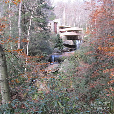 Frank Lloyd Wright Painting - Fallingwater by Jeffrey Koss
