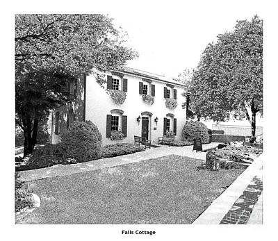Falls Cottage - Architectural Rendering Print by A Wells Artworks