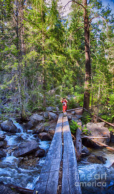 Falls Creek Footbridge Print by Omaste Witkowski