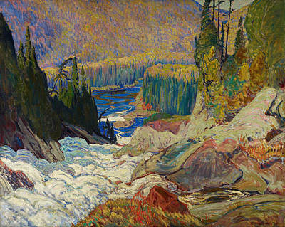 James Edward Hervey Macdonald Painting - Falls Montreal River by James Edward Hervey MacDonald
