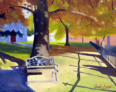 2 Solitudes Painting - Falltime Solitude 2 by JJ Long