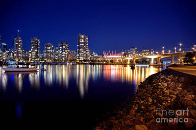 False Creek After Sunset Print by Terry Elniski