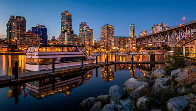 False Creek From Granville Island Print by Alexis Birkill
