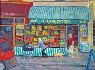 Baby Carriage Painting - Family Expedition In Paris by Dwain Ray