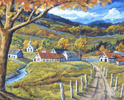 Finding Fine Art Painting - Family Farms By Prankearts by Richard T Pranke