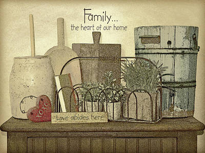 Inspirational Painting - Family Heart by Jo Moulton