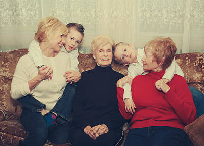 Grandmother Photograph - Family by Laurie Search