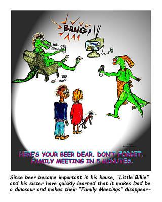 Family Meeting For Billie Print by Michael Shone SR