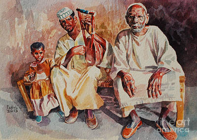 Painting - Family by Mohamed Fadul