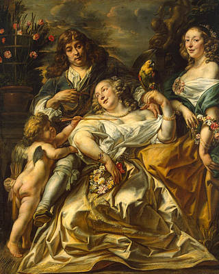 Jacob Jordaens Painting - Family Portrait by Jacob Jordaens