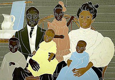 Family Portrait Print by Martha Rucker