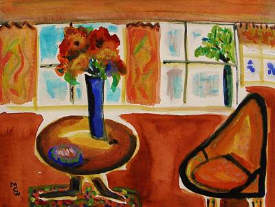 Family Room Corner Print by Mary Carol Williams