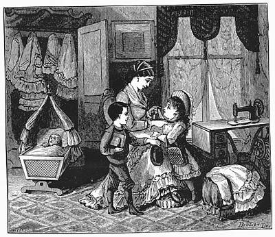Family Scene Print by Universal History Archive/uig