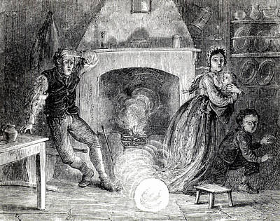 Fireball Photograph - Family Terrified By Fireball Or Meteorite by Universal History Archive/uig