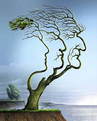 Family Tree, Conceptual Artwork Print by Wieslaw Smetek