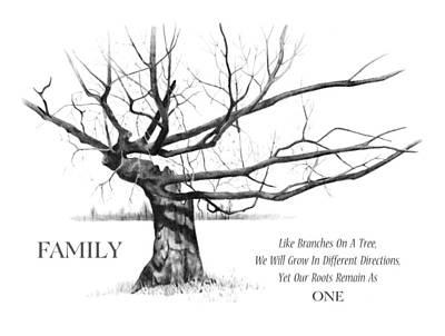Family Tree Print by Joyce Geleynse
