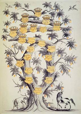 Family Tree Of Javanese Dynasty Print by British Library