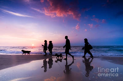 Sports Photograph - Family Walk by Michal Bednarek