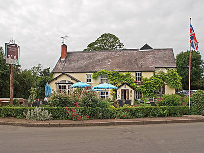 Famous Pub -the Cricketers Clavering Print by Gill Billington