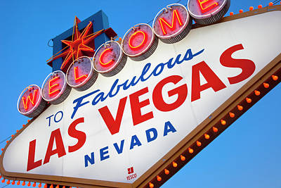 Famous 'welcome To Fabulous Las Vegas' Print by Brian Jannsen