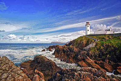 Lighthouse Photograph - Fanad Lighthouse by Marcia Colelli