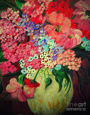 Fanciful Flowers Print by Eloise Schneider