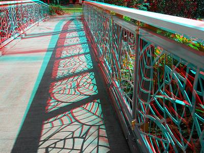 Galleries On Line Photograph - Fancy Fencing 3d by Ron Davidson