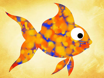Goldfish Digital Art - Fancy Goldfish by Christina Rollo