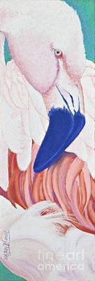 Fandango I Flamingo Original by Tracy L Teeter