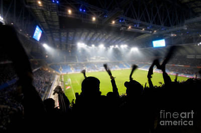 Crowd Photograph - Fans Celebrating Goal by Michal Bednarek