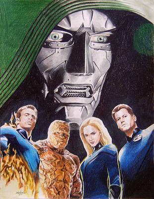 Storm Drawing - Fantastic Four by Joseph Christensen