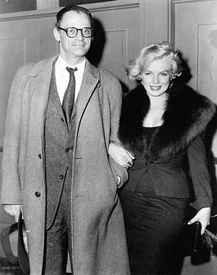 Marilyn Monroe Photograph - Marilyn Monroe And Arthur Miller by Retro Images Archive