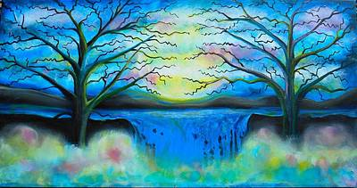 Fantasy Tree Art Painting - Fantasy Falls by Shirley Smith