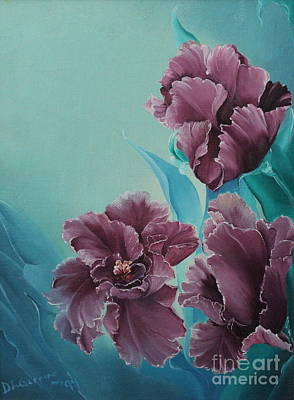 Dlgerring Painting - Fantasy Floral by D L Gerring