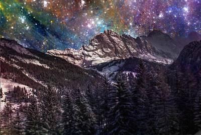 Nebula Mixed Media - Fantasy Mountain Landscape by Martin Capek