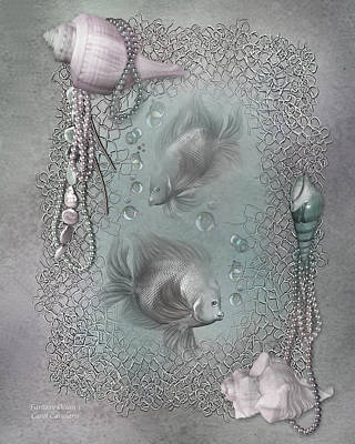 Fantasy Ocean 1 Print by Carol Cavalaris