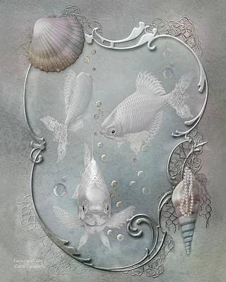Fantasy Ocean 2 Print by Carol Cavalaris