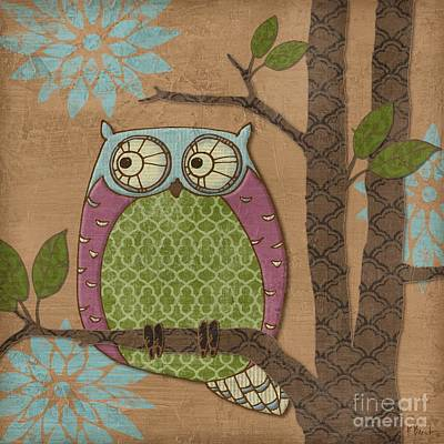 Fantasy Owl Iv Print by Paul Brent