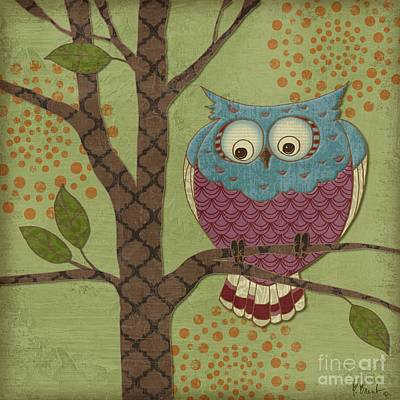 Owl Painting - Fantasy Owls IIi by Paul Brent