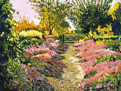 Garden Gates Painting - Fantasy Pathway by David Lloyd Glover