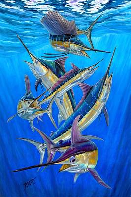 Swordfish Painting - Fantasy Slam by Terry Fox
